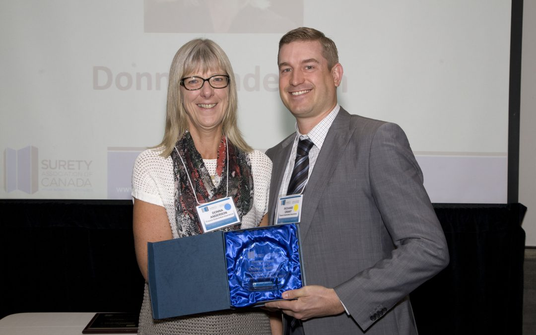 DONNA ANDERSON WINS SURETY ASSOCIATION OF CANADA PRESIDENT'S AWARD